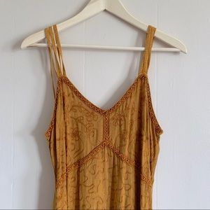M.P.H. Ochre Embroidered Dress
